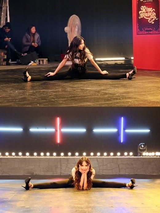 "104cmの長い脚を180度開脚!""モデルアイドル""Nine Muses イユエリン、撮影現場の写真が話題に"