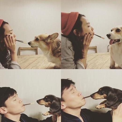 """ユン・スンア&キム・ムヨル、夫婦の幸せな日常""""ペットと共に"""""""