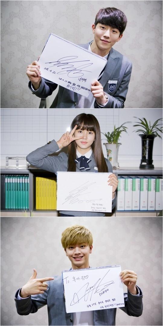 ナム・ジュヒョク&キム・ソヒョン&BTOB ソンジェ「Who are you-学校2015」初放送を応援する直筆メッセージを公開