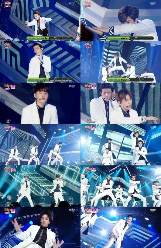 """「音楽中心」EXO、完璧なパフォーマンスを披露…""""キレのある群舞&抜群の歌唱力"""""""