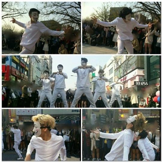 "CROSS GENE、ソウル市内でサプライズフラッシュモブを開催""カムバックが楽しみ!"""