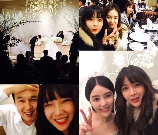 RAINBOW ヒョニョン、SUPER JUNIOR ソンミン&キム・サウンの結婚式写真を公開「お幸せに!」
