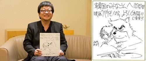 細田守監督「バケモノの子」を引っさげて6年ぶりに訪韓確定…直筆メッセージを公開