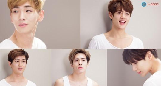"SHINee、化粧品広告の撮影現場ビハインドカットを公開!""女性より綺麗な肌"""