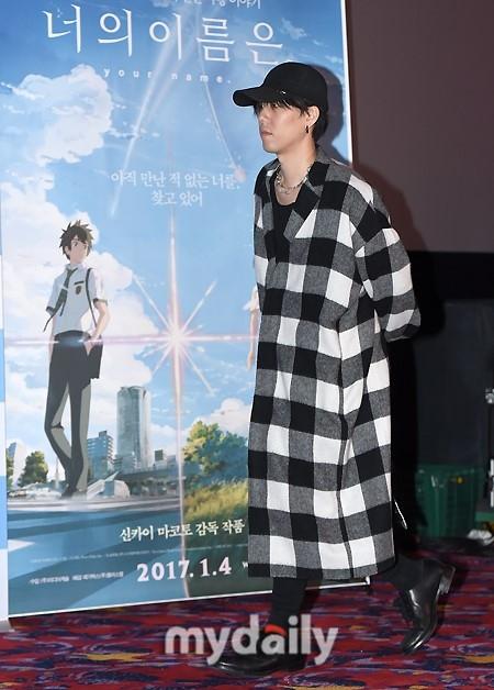 東大門(トンデムン) MEGA BOXで行われた映画「君の名は。」興行感謝来韓記者懇談会に、劇中音楽を担当した日本のバンドRADWIMPSのボーカル野田洋次郎が出席した。