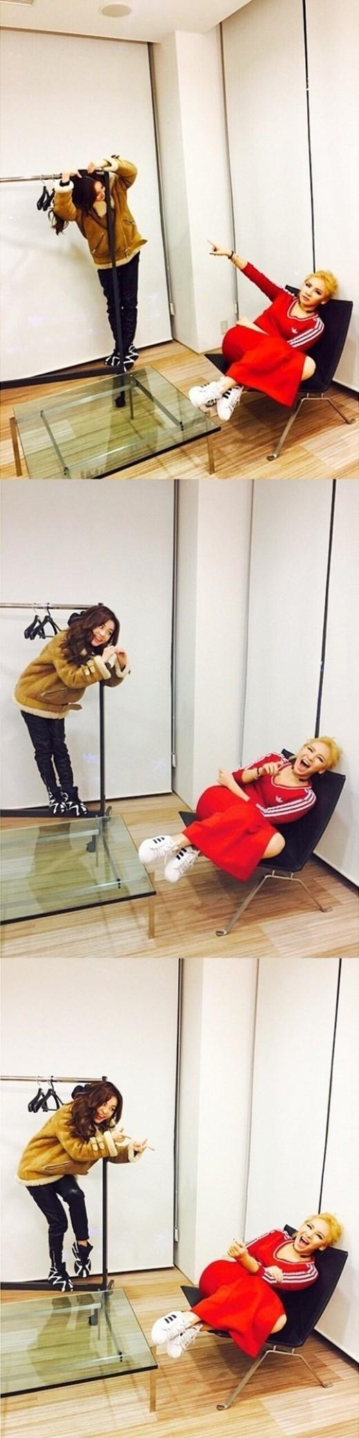 "2NE1のDARA、CLに3種の愛嬌を披露""一緒で嬉しい"""