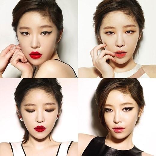 アイメイクで変わる4つの表情を公開…Brown Eyed Girls ガインの新たな魅力