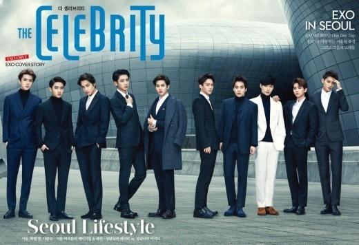 EXO、男の香りを漂わせるスーツファッションを披露…雑誌の表紙を飾る