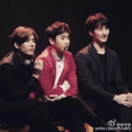 SS501末っ子キム・ヒョンジュン、ファンに感謝「本当に幸せ」…メンバー3人が並んだ写真を公開