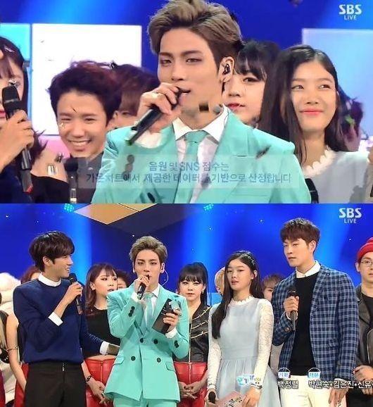 """SHINee ジョンヒョン、2冠達成!「人気歌謡」でも1位に""""SMTOWNの皆、ありがとう"""""""
