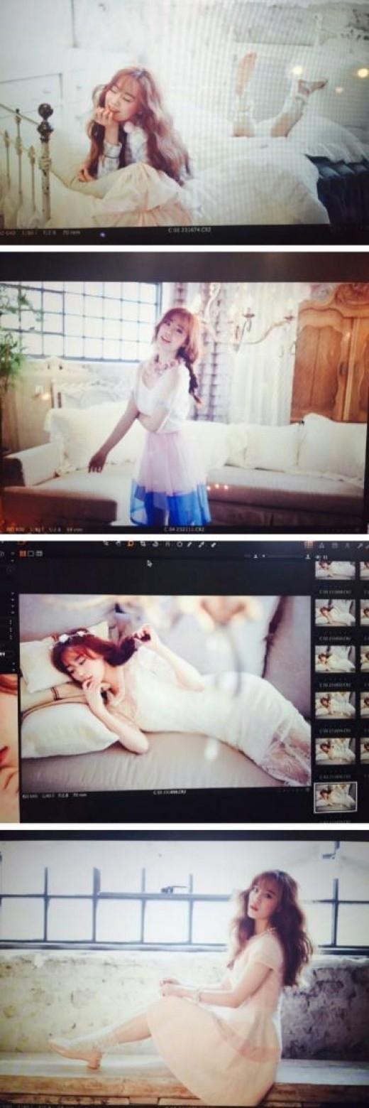 """KARA ヨンジ、グラビアの未使用カットを公開…""""お姫様のような姿"""""""