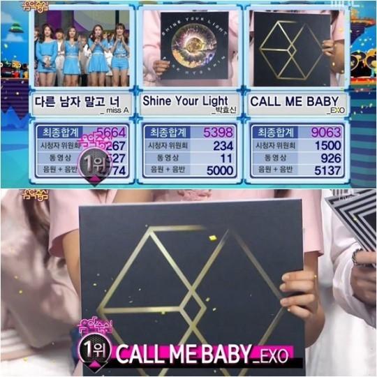 """EXO「音楽中心」で2週連続1位に…ついに10冠を達成!""""止まらない勢い"""""""