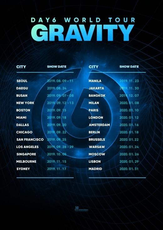 Day6 8月からワールドツアーを開催 ソウルを含む26の都市31回公演へ