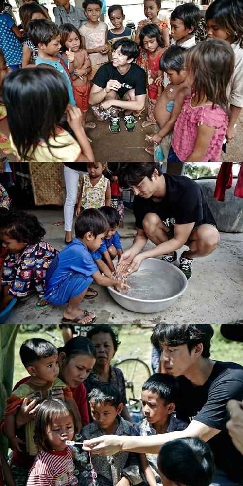コン・ユ、ユニセフ「子どもの権利条約」特別代表としてカンボジアを訪問