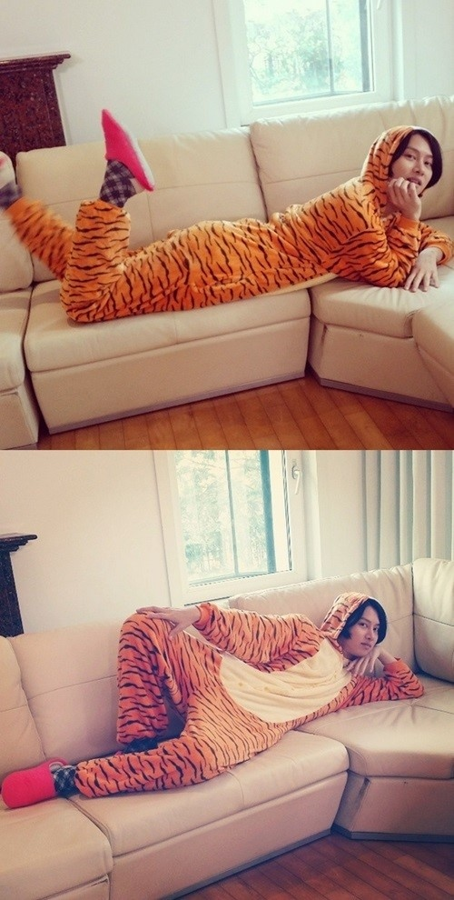 SUPER JUNIOR ヒチョル、虎の着ぐるみ姿で妖艶なポーズを披露