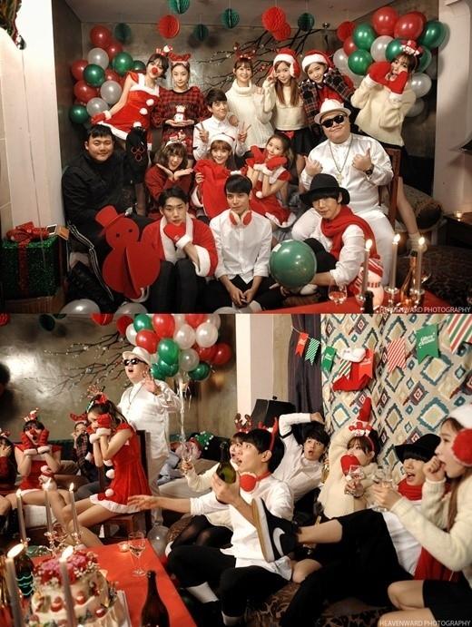 CRAYON POP事務所所属の歌手たちが出演!クリスマスキャロルのMV撮影現場を公開