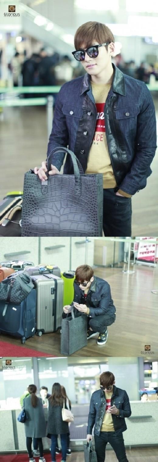 """チ・チャンウク、スタイリッシュなデニム×デニムの出国ファッションを公開…""""微笑ましいビジュアル"""""""