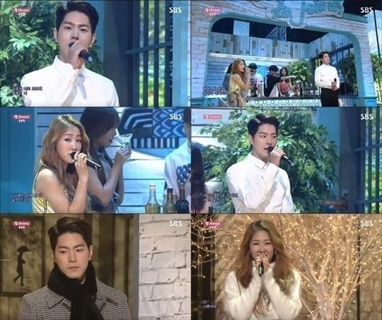 ホン・ジョンヒョン、SISTAR ソユと甘いデュエット披露!「人気歌謡」の新MCに