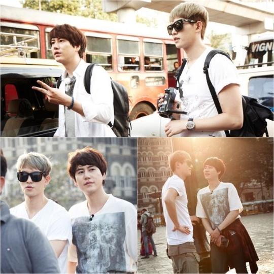 SUPER JUNIOR キュヒョン&CNBLUE イ・ジョンヒョン、余裕のある午後のひと時…ツーショット公開