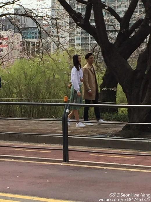 SUPER JUNIOR シウォン&リウ・ウェンのお花見デート現場をキャッチ!中国版「私たち結婚しました」で共演