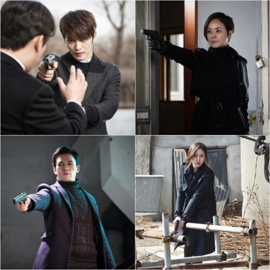 「スパイ」JYJ ジェジュン&ペ・ジョンオク&ユ・オソン&コ・ソンヒ、銃を手にしたベストポーズカット公開