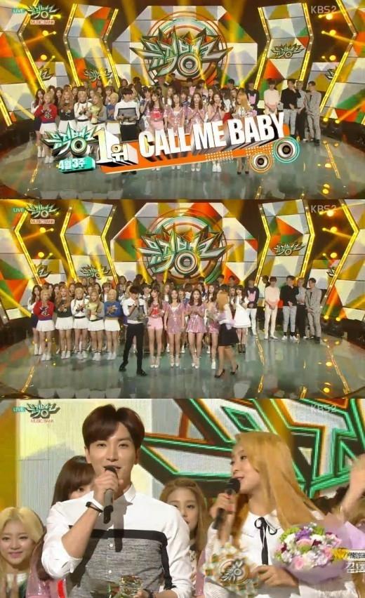 EXO「ミュージックバンク」で1位に…9つ目のトロフィーを獲得!