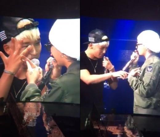 """G-DRAGONとV.I、コンサートで熱愛否定?ジェスチャーで""""指輪はない&恋人はいない"""""""