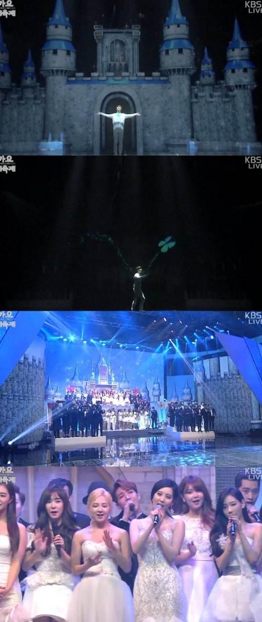EXO ディオ「アナと雪の女王」の王子様に変身!「KBS歌謡大祝祭」華やかなオープニング