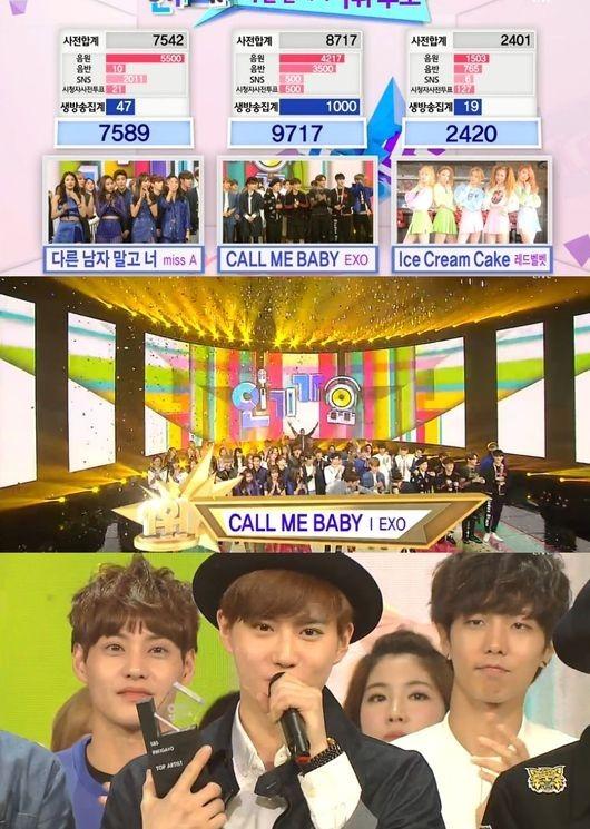 """EXO「人気歌謡」でも1位を獲得!""""セフン、誕生日おめでとう"""""""
