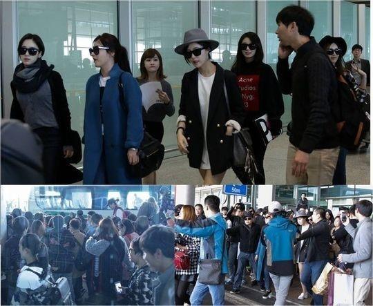 T-ARA、北京の空港に千人のファンが集結…約1ヶ月間各種スケジュールをこなす予定