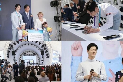"""ソ・ガンジュン、カザフスタンの「韓国の日」イベントに参加…""""韓流の顔""""として大きな役割果たす"""