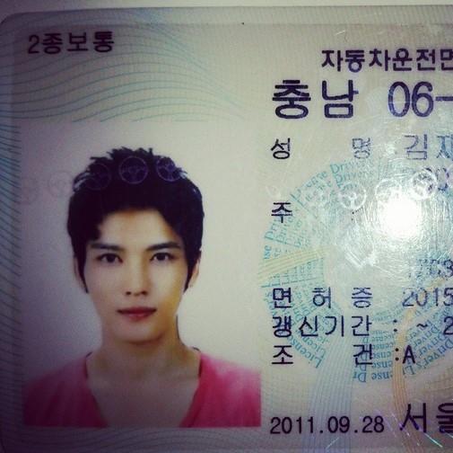 JYJ ジェジュン、運転免許証を公開…完璧すぎる美貌