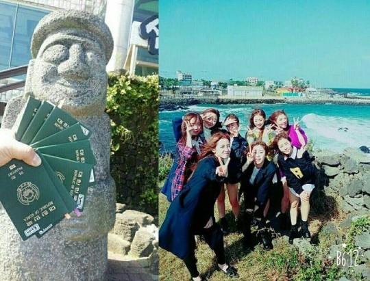 LOVELYZ、済州島での写真を公開…国内なのにパスポート?