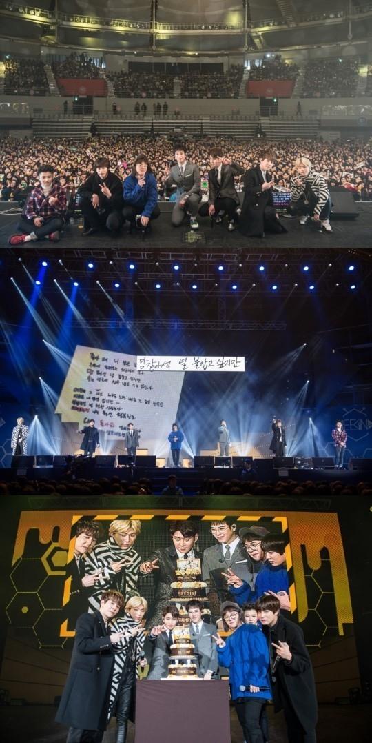 Block B、デビュー後初のファンミーティングで思わず涙…約8000人のファンに感謝の挨拶