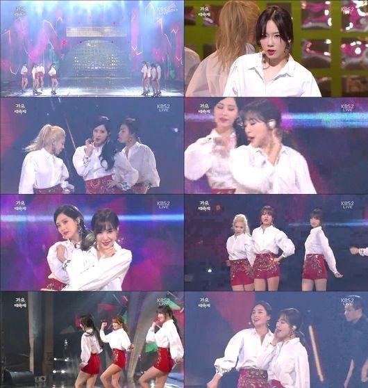 少女時代、韓国のTV初披露!8人体制のステージに視線集中…紅白衣装で「Mr. Mr.」を熱唱
