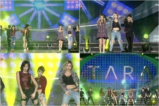 「音楽中心」T-ARA、ジヨン以外のメンバーで「SUGAR FREE」ステージを披露