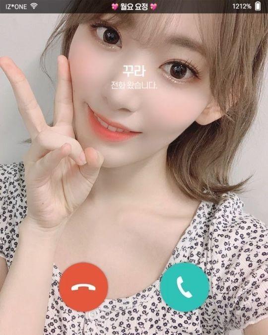 IZ*ONE 宮脇咲良、ファンとビデオ通話?韓国語で応援メッセージ