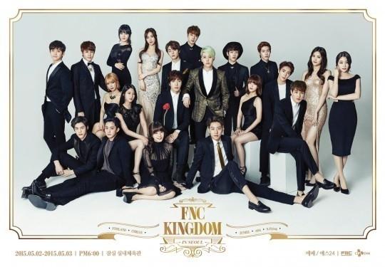 FTISLAND、CNBLUE、AOAらが総出演する「FNC KINGDOM」ポスターを公開