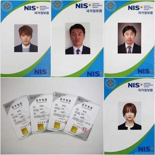 「スパイ」JYJ ジェジュンからリュ・ヘヨンまで、キャラクターが反映された国家情報院のIDカード公開