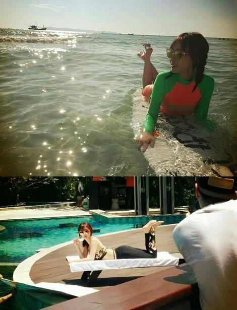 カン・イェウォン、完璧な美ボディ!タイで撮影中のオフショット公開
