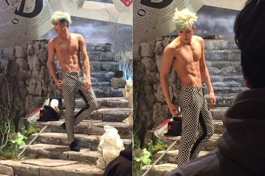 BOYFRIEND ヒョンソン、鍛え抜かれた腹筋に注目…「BOUNCE」MV撮影現場を公開