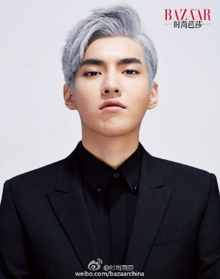 EXOを離れたクリス、中国のファッション誌で銀髪のグラビア公開