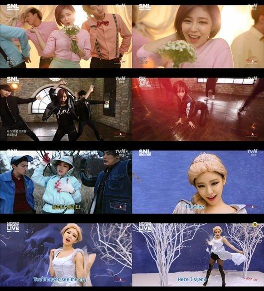 Brown Eyed Girls ガイン、IU&EXO&「アナ雪」のセクシーバージョンを披露