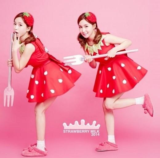 韓国の双子ユニット「イチゴミルク」かわいすぎワロタwwwwwwwwww