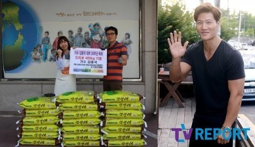 キム・ジョングクのファンクラブ、デビュー20周年を迎え恵まれない子供たちに米を寄付