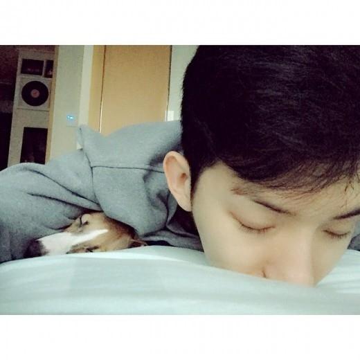 2AM チョグォン、愛犬とやすらぎのひと時「休み中」
