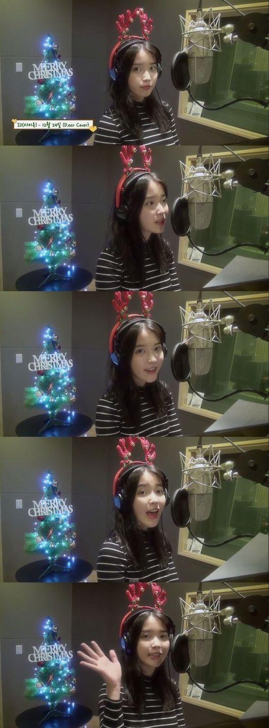 IU、甘いクリスマスプレゼント…d.earの「12月24日」を歌う映像を公開